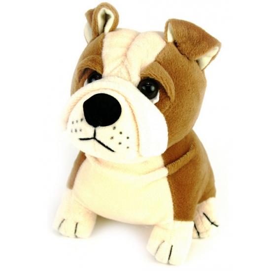 Pluche Bulldog hond 16 cm