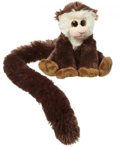 Pluche capucijneraapje met lange staart