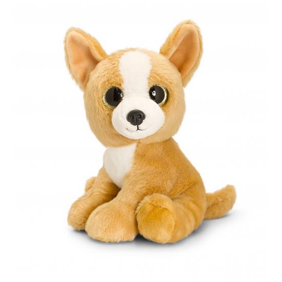Pluche Chihuahua met sprankelende ogen 25 cm