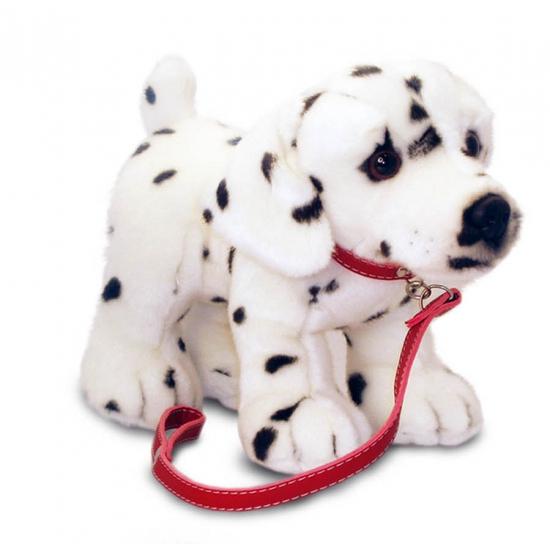 Pluche Dalmatier hond aan lijn