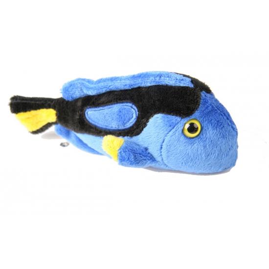 Pluche doktersvis blauw 20 cm