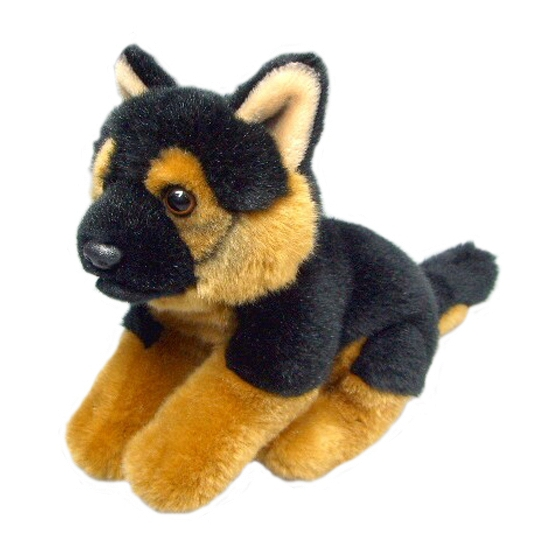 Pluche Duitse herder hond 23 cm