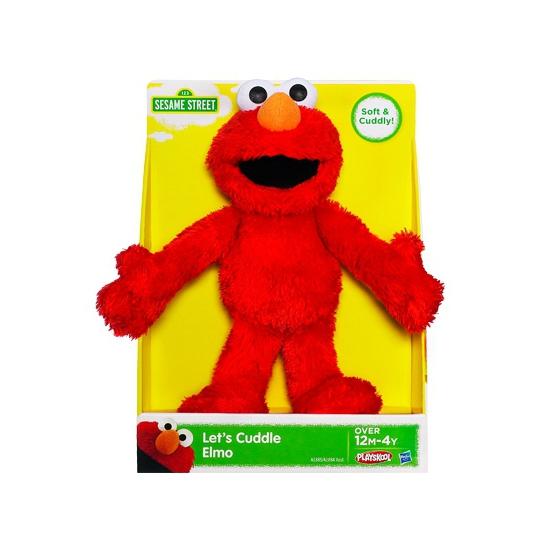 Pluche Elmo knuffel met kraalogen 25 cm