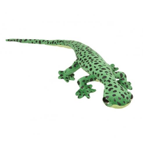 Pluche gekko groen met zwart 62 cm