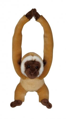Pluche gibbon aapje hangend 40 cm