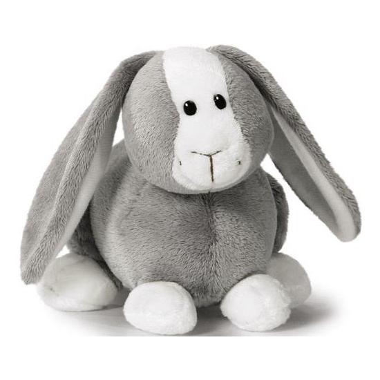 Pluche grijze konijnen knuffel 16 cm