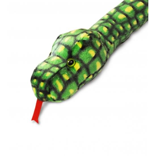 Pluche groene slang 200 cm