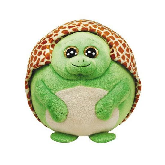 Pluche groene Ty Beanie ballz schildpadden 12 cm