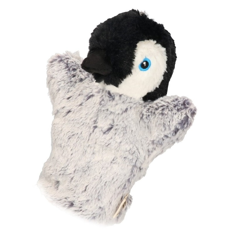 Pluche handpop pinguin 22 cm