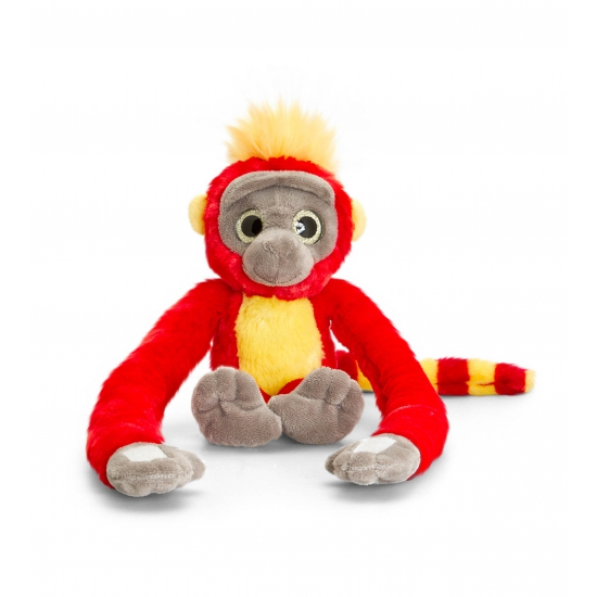 Pluche hang aap rood 48 cm