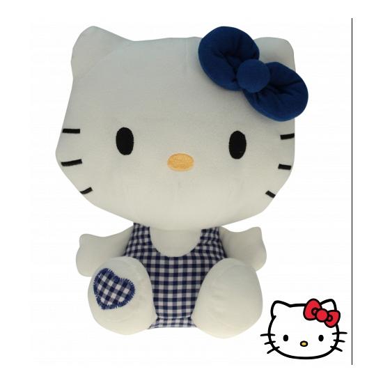 Pluche Hello Kitty knuffel blauw 25 cm