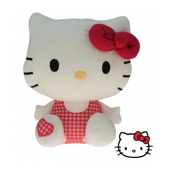 Pluche Hello Kitty knuffel rood 25 cm