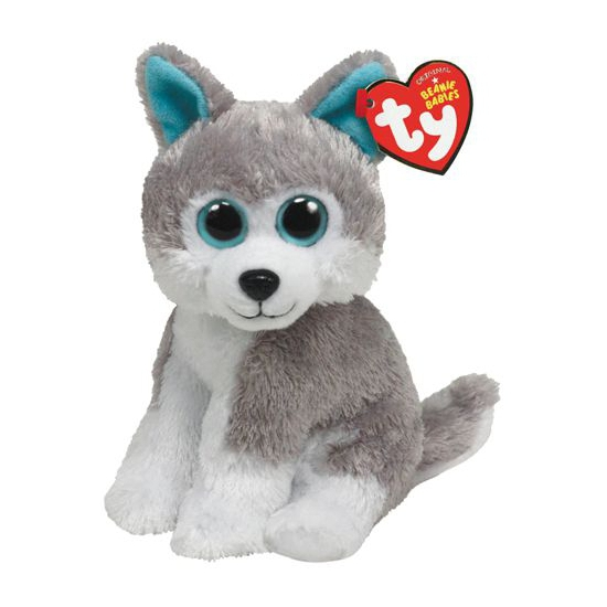 Pluche husky knuffels 15 cm