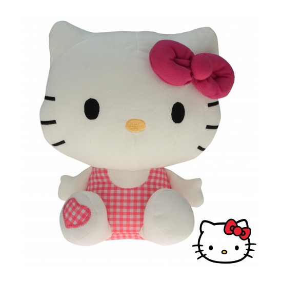 Pluche kinderknuffel Hello Kitty 25 cm