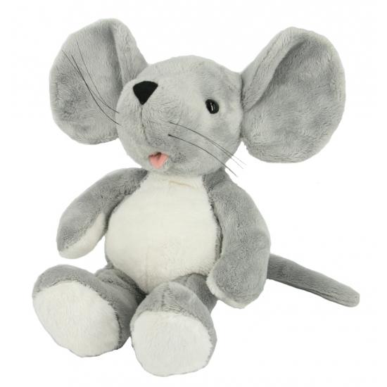 Pluche knuffel grijze muis 31 cm