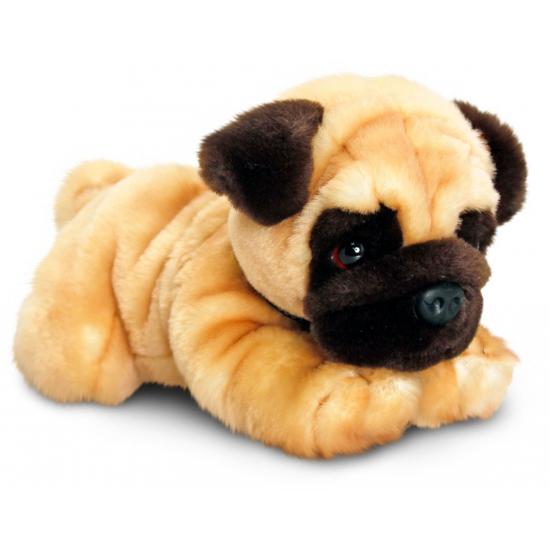 Pluche knuffel hond Mopshond 30 cm