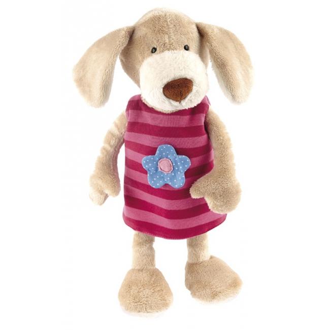 Pluche knuffel hondje met verwisselbaar jurkje 40 cm