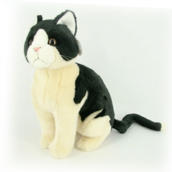 Pluche knuffel katten zwart/wit