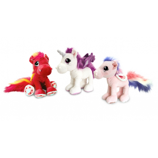Pluche knuffel paard rood 30 cm