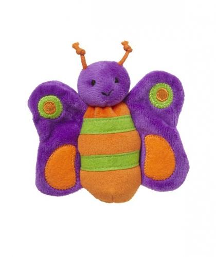 Pluche knuffel paarse vlinder 10 cm