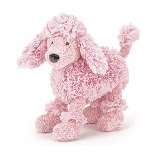 Pluche knuffel poedels roze 19 cm