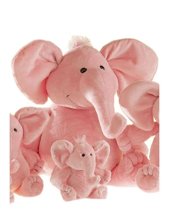 Pluche knuffel roze olifant 36 cm