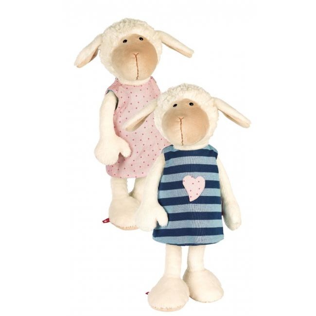 Pluche knuffel schaap met roze jurkje 40 cm