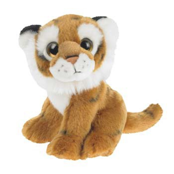 Pluche knuffel tijger 18 cm