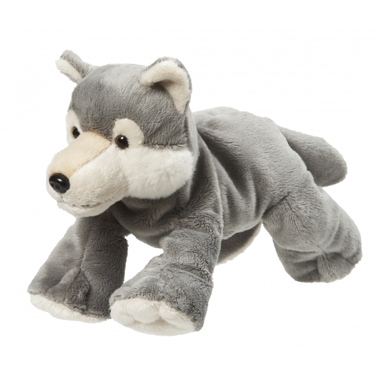 Pluche knuffel wolf 22 cm