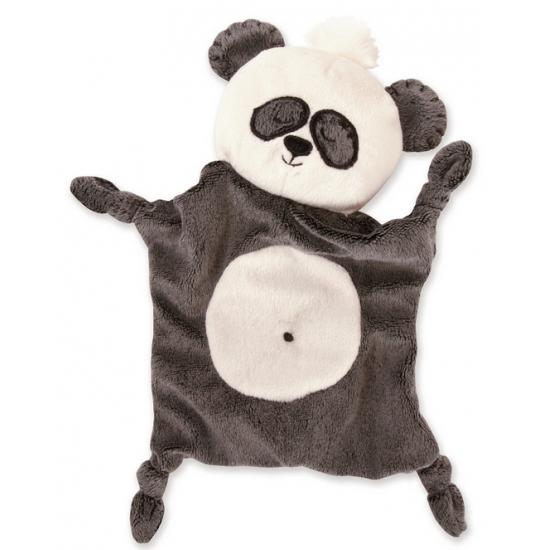 Pluche knuffeldoekjes panda Patches