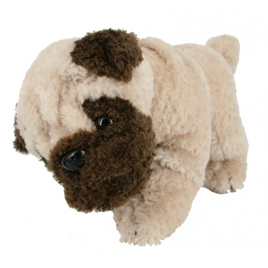 Pluche knuffels mopshond 28 cm