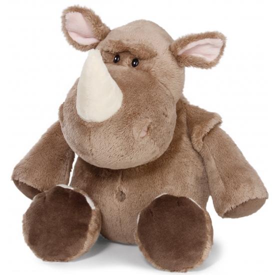 Pluche knuffels neushoorn 25 cm