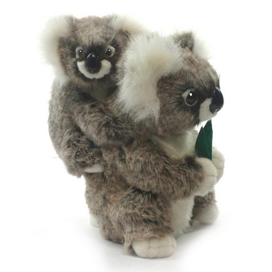 Pluche koala knuffel met baby 28 cm