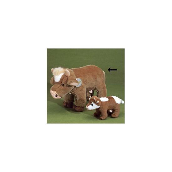 Pluche koe bruin 30 cm