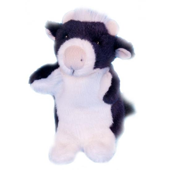 Pluche koe handpoppetje 28 cm