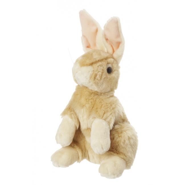 Pluche konijn lichtbruin 30 cm