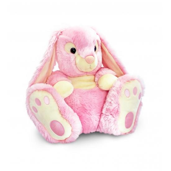 Pluche Konijnen knuffel roze 50 cm