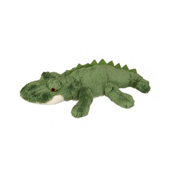 Pluche krokodil liggend 15 cm