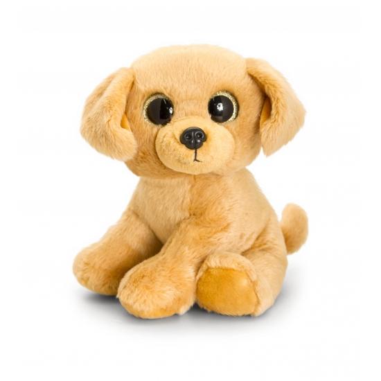 Pluche Labrador met sprankelende ogen 25 cm