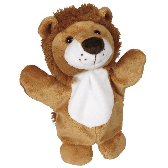 Pluche leeuwen handpopje 27 cm