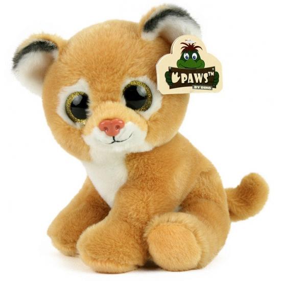 Pluche leeuwin met glitter ogen 22 cm