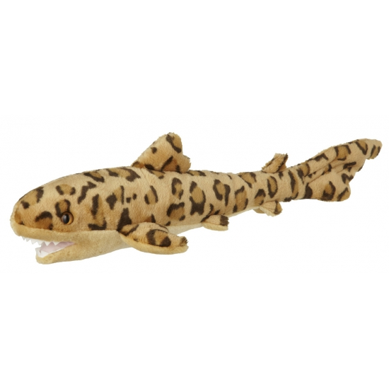 Pluche luipaard haai 60 cm