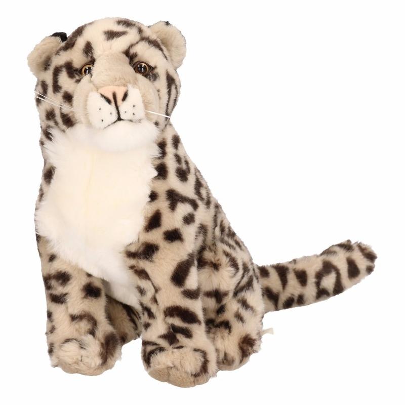 Pluche luipaard knuffel 25 cm zittend