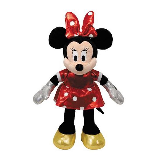 Pluche Minnie Mouse met rood jurkje 20 cm
