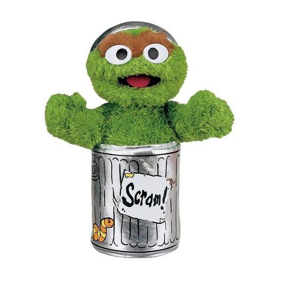 Pluche Oscar Sesamstraat knuffeltje
