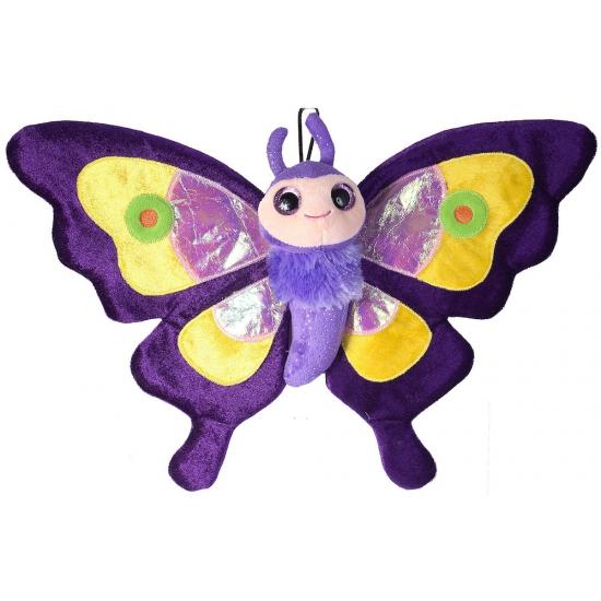 Pluche paarse vlinder knuffels 38 cm