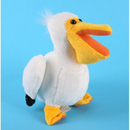 Pluche pelikanen knuffel 17 cm