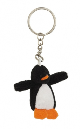 Pluche pinguin sleutelhanger 6 cm