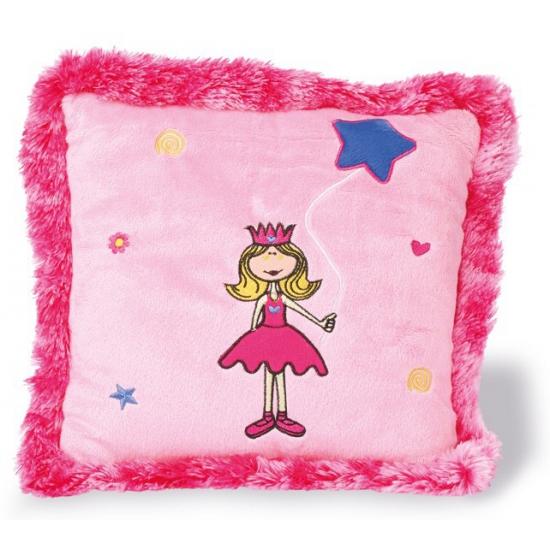 Pluche prinsessen kussen roze