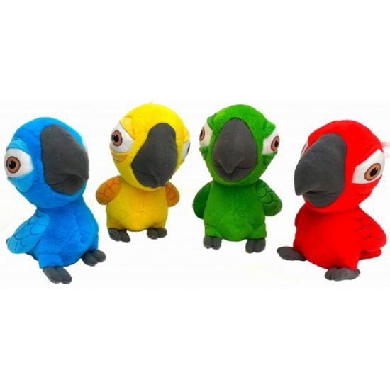 Pluche Rio papegaai blauw 22 cm